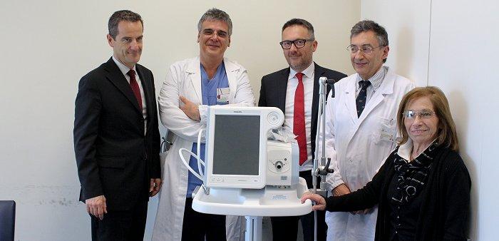 Cardiologia donazione di un ventilatore polmonare da parte della Famiglia Panizza 13042016